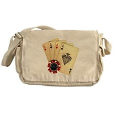 Poker - 4 Aces Messenger Bag