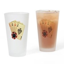 Poker - 4 Aces Drinking Glass