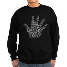 Left Handed Wordle Sweatshirt
