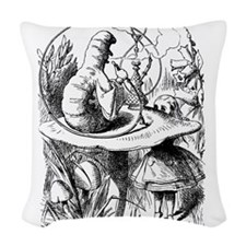 Alice Caterpiller 2.png Woven Throw Pillow