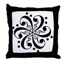 TrebleBass Throw Pillow