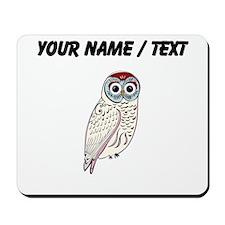 Custom White Owl Mousepad