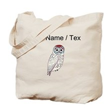Custom White Owl Tote Bag