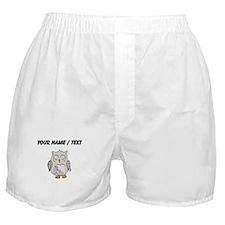 Custom Sleeping Owl Boxer Shorts