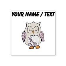 Custom Sleeping Owl Sticker