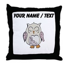Custom Sleeping Owl Throw Pillow