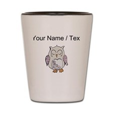 Custom Sleeping Owl Shot Glass
