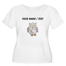 Custom Sleeping Owl Plus Size T-Shirt