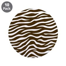 "Brown and White Animal Print Zebra Stripes 3.5"" Bu"