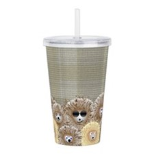 Hedgehog Party Acrylic Double-Wall Tumbler