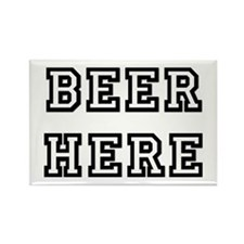 Beer Here Rectangle Magnet