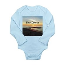 EASY DOES IT Long Sleeve Infant Bodysuit