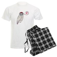 White Love Owl Pajamas