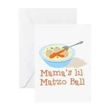 Mama's Lil Matzo Ball Greeting Cards