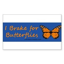 I Brake for Butterflies color Decal