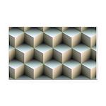 Ambient Cubes Rectangle Car Magnet