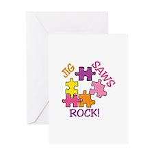 Jigsaws Rock! Greeting Cards