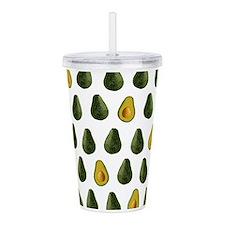 Avocado Pattern Acrylic Double-wall Tumbler