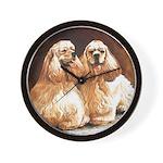 Cocker Spaniels Wall Clock