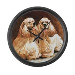 Cocker Spaniels Large Wall Clock
