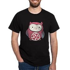 Red Love Owl T-Shirt