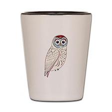 White Owl Shot Glass
