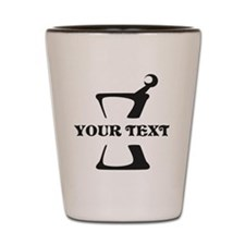 Black your text Mortar and Pestle Shot Glass