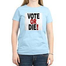 Vote Or Die Women's Pink T-Shirt