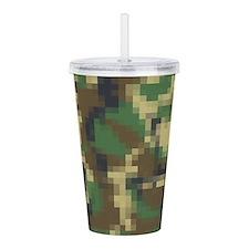 Digital Pixel Camouflage Pattern Acrylic Double-wa