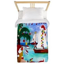 Christmas boat parade Twin Duvet