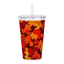 Autumn Leaves Acrylic Double-wall Tumbler