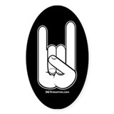 367 Creative logo ROCK HAND Oval Decal