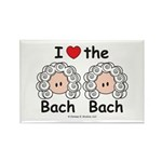 I Love the Bach Double Rectangle Magnet
