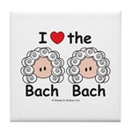 I Love the Bach Double Tile Coaster