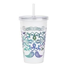 flourish 3 color wash Acrylic Double-wall Tumbler