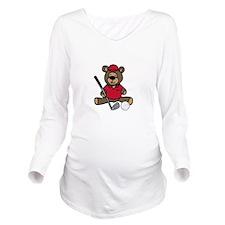 Golf Bear Long Sleeve Maternity T-Shirt