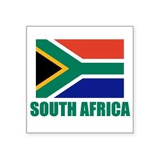 "Unique South africa flag Square Sticker 3"" x 3"""