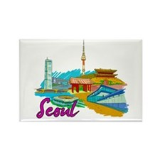 Seoul - South Korea Magnets