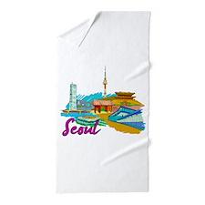 Seoul - South Korea Beach Towel