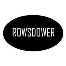 Rowsdower Oval Decal