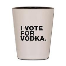 Cute Voting humor Shot Glass