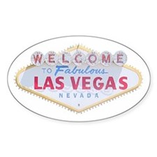 Las Vegas Sign Logo Oval Decal