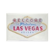 Las Vegas Sign Logo Rectangle Magnet
