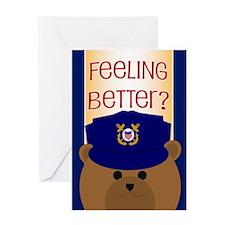 Coast Guard Feel Better Card Greeting Cards