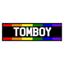 Tomboy Bumper Car Sticker
