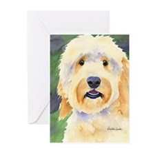 Cute Golden doodle Greeting Cards (Pk of 20)