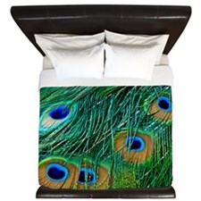 Peacock Feathers King Duvet