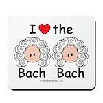 I Love the Bach Double Mousepad