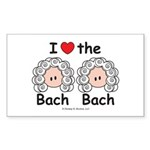I Love the Bach Double Rectangle Sticker