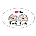 I Love the Bach Double Oval Sticker